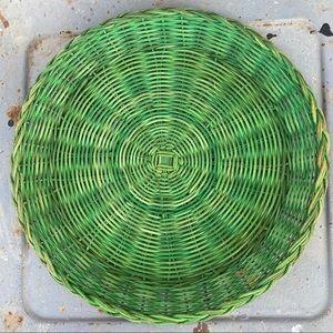 Vintage Accents - Vintage Flat Wicker Basket